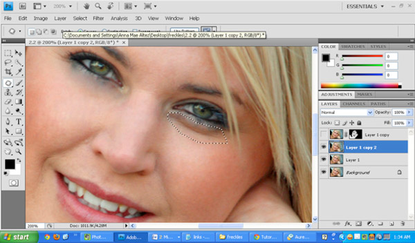 Reduce skin Imperfections Using Photoshop 2 How to Reduce Blemishes and Skin Imperfections Using Photoshop