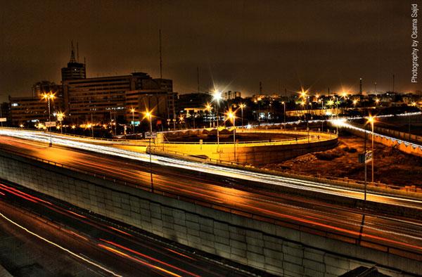 Karachi Streets At Night
